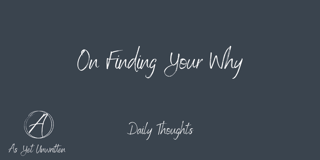 On Finding Your Why title image